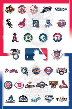 Major League Baseball Mlb Team Logo Logos Art Poster