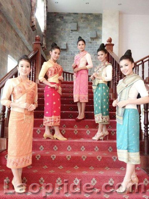 Laos traditional dresses