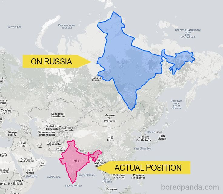 Geography shock! The world looks much different than it appears on a map. In fact, you can't rely on maps at all to depict what countries really look like in terms of size. Here's why: Early cartographers struggled to put our 3D planet on a two-dimensional map and so Gerardus