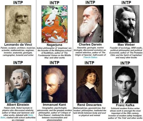 I'm not nearly as brilliant as any of these men (oh, how I dream) but I do think that, being an INTP, I am a bit brighter than most.