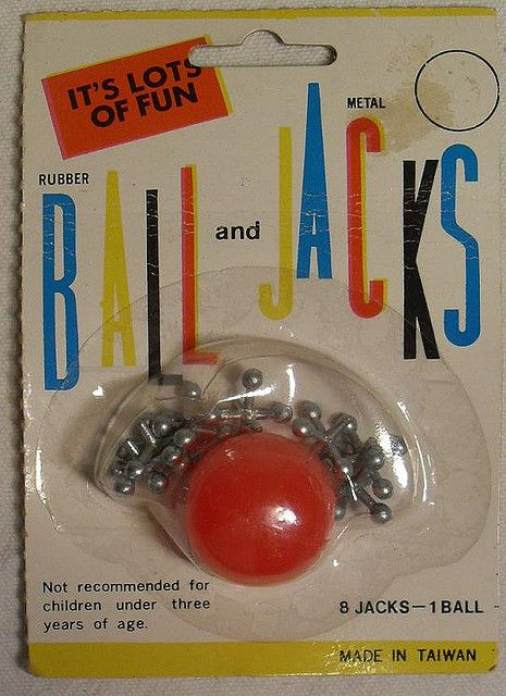 I was queen of Jacks...hours of fun! 1960s Toy Metal Ball and Jacks Vintage Graphics Mint On Card by Christian Montone, via Flickr