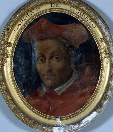 Cardinal Carlo Domenico del Carretto (1454-1514) Archbishop of Tours, France. Pope Julius II created him cardinal deacon in the consistory of Dec 1, 1505