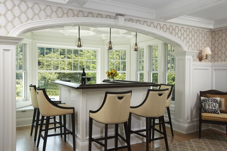 Elegant Bar Stools Kitchen Transitional with Ornate Bifold Doors Contemporary Specialty Baking Tools