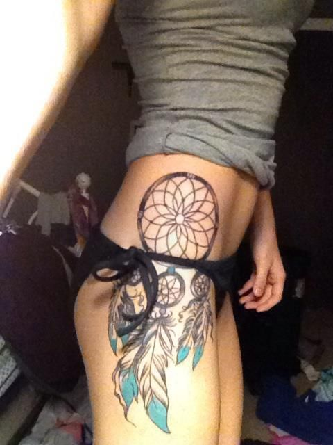 Side Tattoo | Tumblr Position For My Pistols, But The Dreamcatcher Is Great Idea For The One Ive Planned On My Other Leg