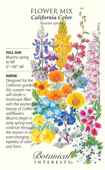 """John Muir, the famous explorer and naturalist wrote, """"When California was wild, it was the floweriest part of the continent."""" Capture the rich beauty and color of California's native wildflowers in yo"""