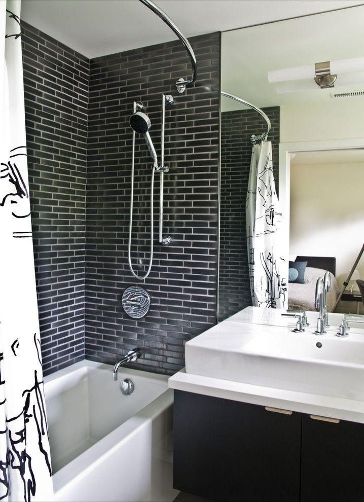 simple curved shower curtain rod for your modern bathroom amazing dark mosaic wall tile stainless steel shower porcelain bathtub modern dar