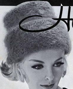 Hi-Hat knit pattern from High Fashion Hats, originally published by Bernhard Ulmann, Volume 62, in 1961.