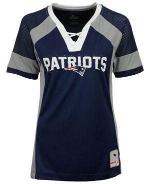 Majestic Women's New England Patriots Draft Me T-Shirt - Blue XXL