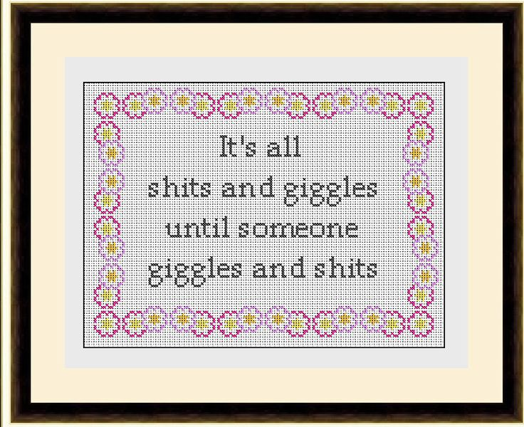 Giggles Subversive Sampler Cross Stitch Pattern PDF Instant Download Sarcastic and Rude by HeritageStitch on Etsy