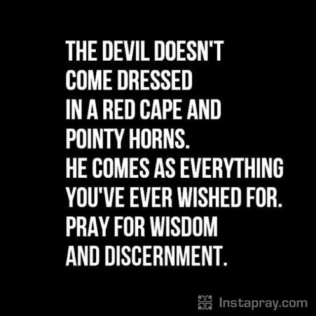 The devil always brings you his best before God brings his!