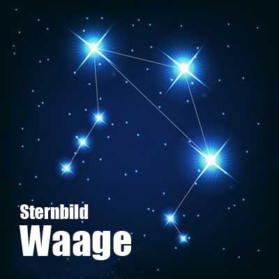 Das Sternbild Waage ist ein kleines und eher unscheinbares Sternbild, welches neben der Jungrau liegt. Weitere Nachbarsternbilder sind Schlange, Wasserschlange, Skorpion und Schlangenträger.