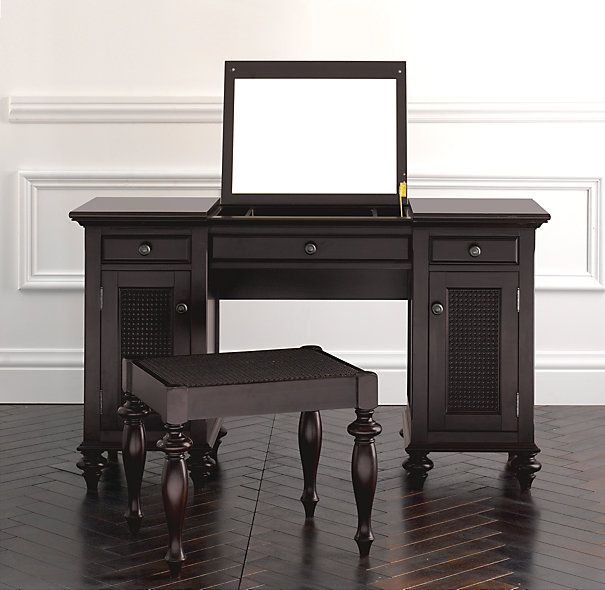 dark wood vanity table. Vanity Dressing Table  British Cane Restoration Hardware 49 best Dark Wood images on Pinterest wood