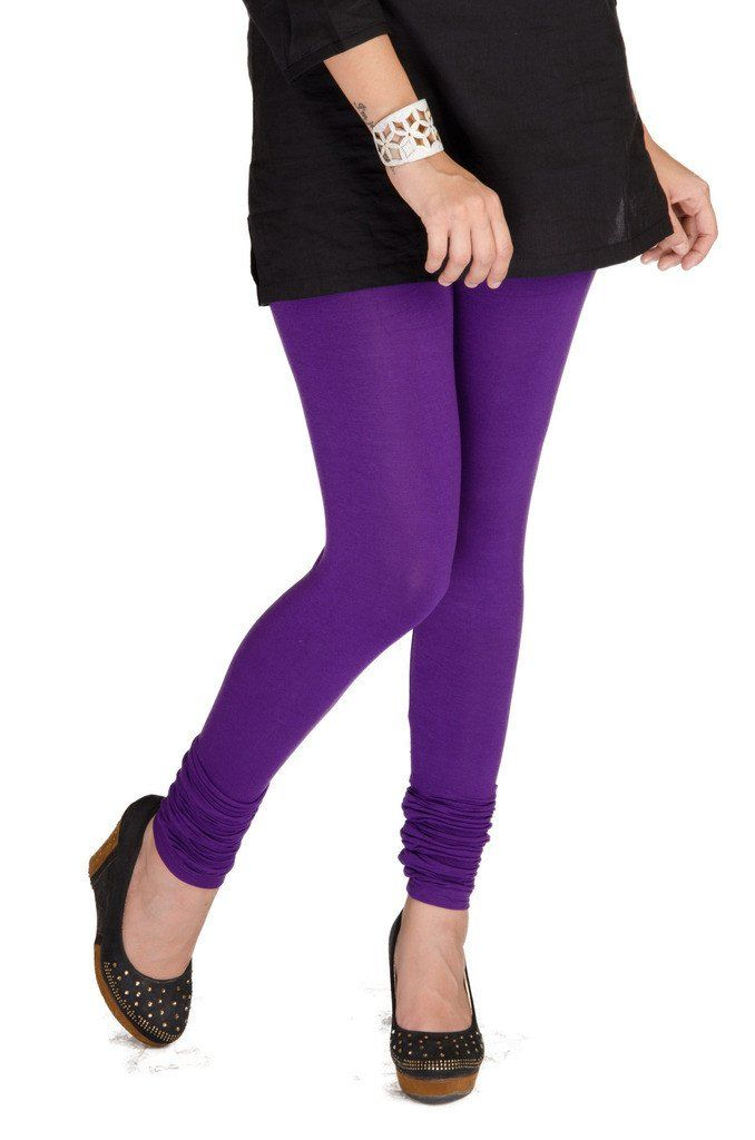 De Moza Ladies Leggings Chudidhar Solid Viscose Lycra Purple  #fashionblogger #longshrug #deals #skirts #bloggerpost #womensfahion #onlineshopping #jegging #tops #freeshipping