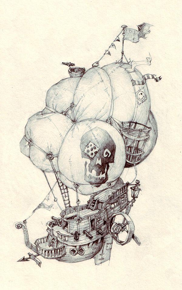 pirateship by Jastorama.deviantart.com ✤ || CHARACTER DESIGN REFERENCES | @Rachel Oberst Design References