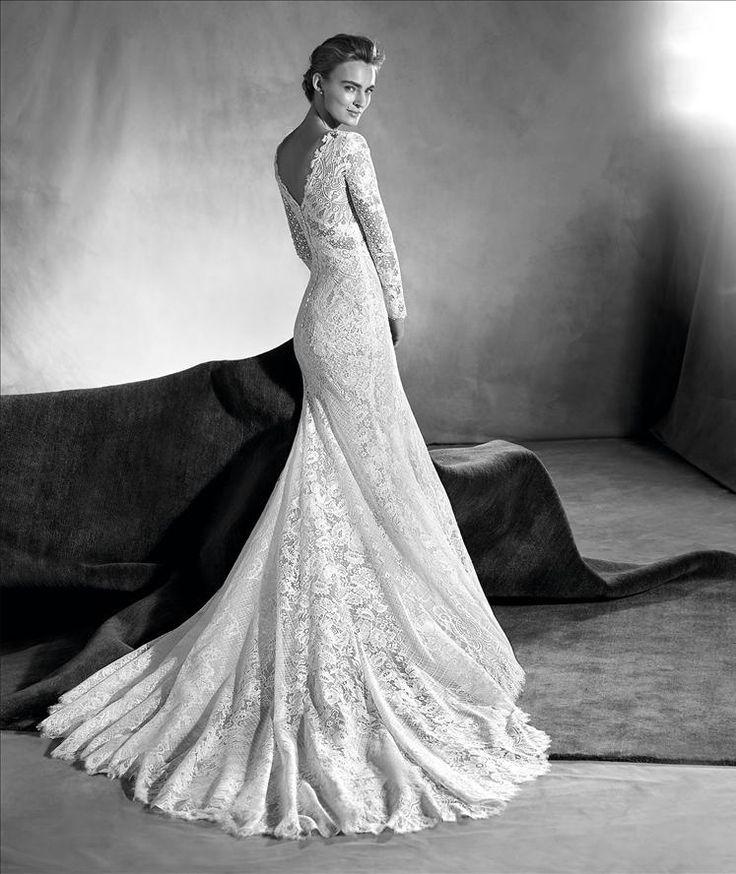 e654aca8cd9 Pronovias Edith 1499 Size 8 Sample Wedding Dresses