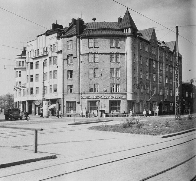 Wendtin talo Helsingin Hakaniemessä nykyisen Ympyrätalon tontilla 1959.  Kuva: Grünberg Constantin.   Tiedosto:Wendtin talo, Helsinki.jpg