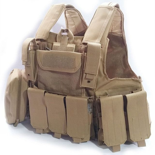 Military and Police Tactical Body Armor Hunting MOLLE Vest for Paintball and Wargame