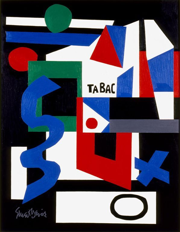 'Stele' (1956) by Stuart Davis