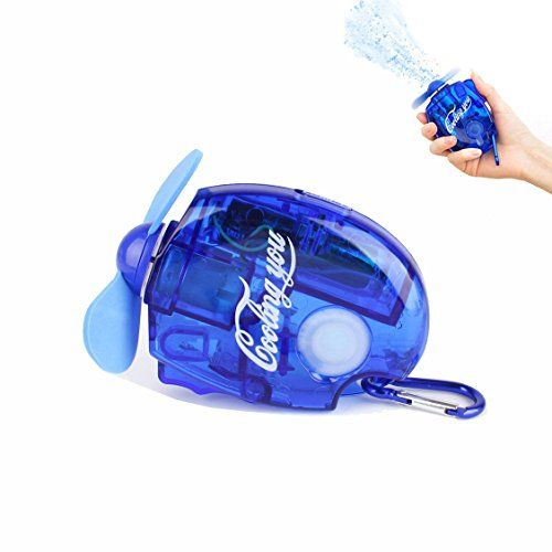 SZCSY Water jet fan Mini handheld air conditioning fan Pocket Spray Mist Water Bottle Fan Portable with Carabiner