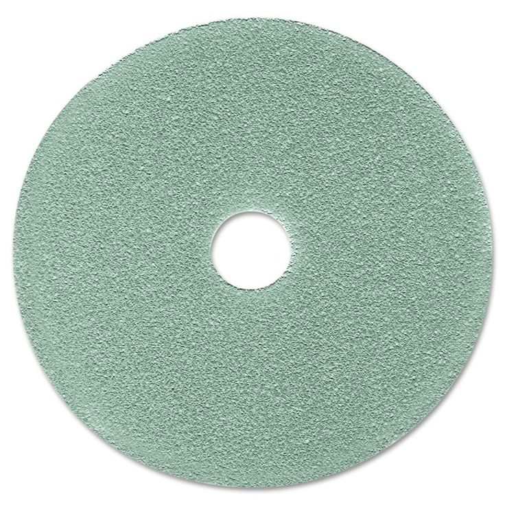 "3M MMM08752 Burnish Floor Pad 3100 19"" Aqua 5 Count Aqua Janitorial Supplies Cleaning Tools Floor Pads"