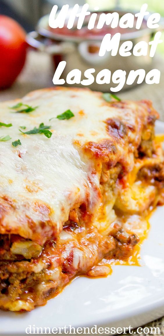 Ultimate Meat Lasagna with four cheeses, a homemade marinara sauce and a few quick chef tricks will make you feel like you've ordered lasagna at your favorite Italian Restaurant.