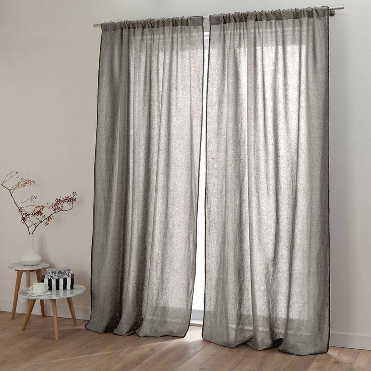 rideau lin lav stone wash et coton zilia harmony linge. Black Bedroom Furniture Sets. Home Design Ideas