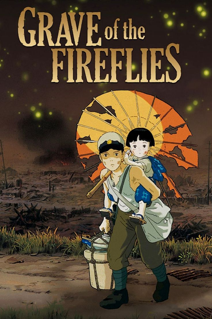 Grave of the Fireflies (火垂るの墓, Hotaru no haka) is a 1988 Japanese animated drama film written and directed by Isao Takahata and animated by Studio Ghibli. It is based on the 1967 semi-autobiographical novel of the same name by Akiyuki Nosaka. It is commonly considered an anti-war film, but this interpretation has been challenged by some critics and by the director. The film stars Tsutomu Tatsumi, Ayano Shiraishi, Yoshiko Shinohara and Akemi Yamaguchi. Set in the city of Kobe, Japan, the…
