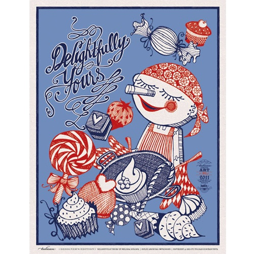 """""""Delightfully Yours"""" Available in Giclee Prints"""