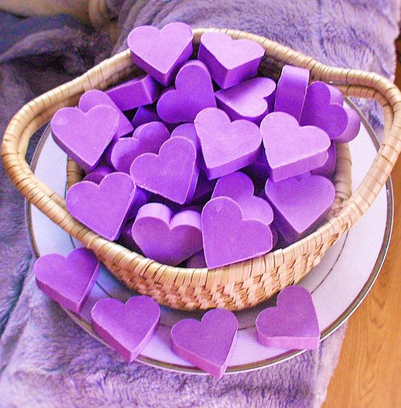 10 French Lavender scented. Hand Made Guest soaps. Baby Shower