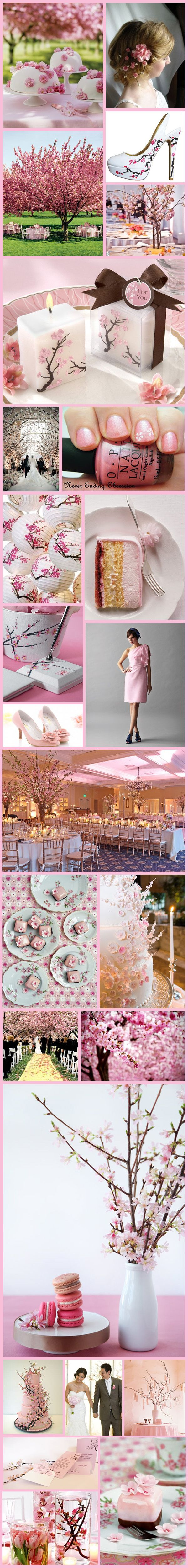 Wednesday Wedding Inspiration: Cherry Blossom Inspiration Board                        via bespoke-bride.com  -  Wendy Schultz - Bridal Parties.