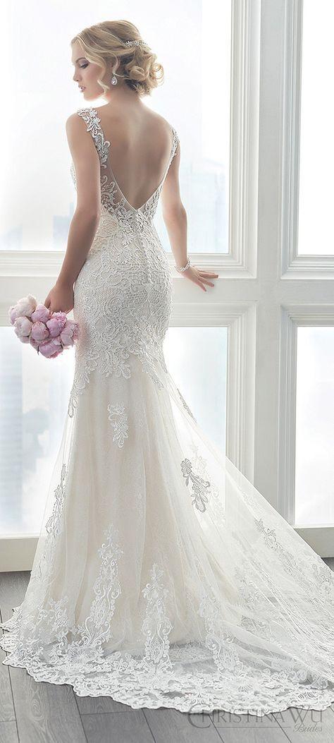 elegant+romantic+open+back+lace+wedding+dresses+Christina+Wu+2017