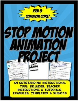 This project is engaging, Common Core and student centered. My students LOVED this project! Students create a stop motion animation for any discipline, including: math, history, science or language arts. Students are grouped or paired and they use their own phones or iPADs with an easy FREE Stop Motion Studio APP.