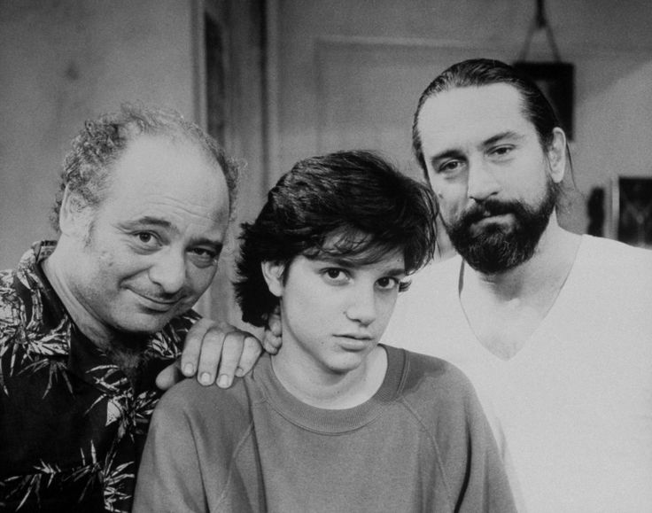 Actors Burt Young,Ralph Macchio and Robert de Niro