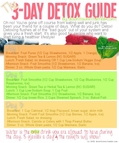 3 day detox (a realistic food plan)