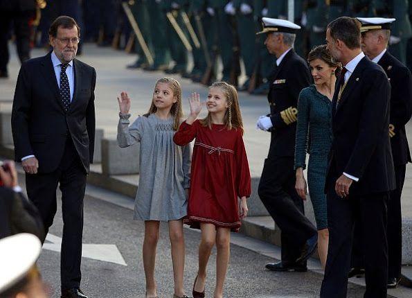 King Felipe, Queen Letizia, Princess Leonor, Princess Sofia