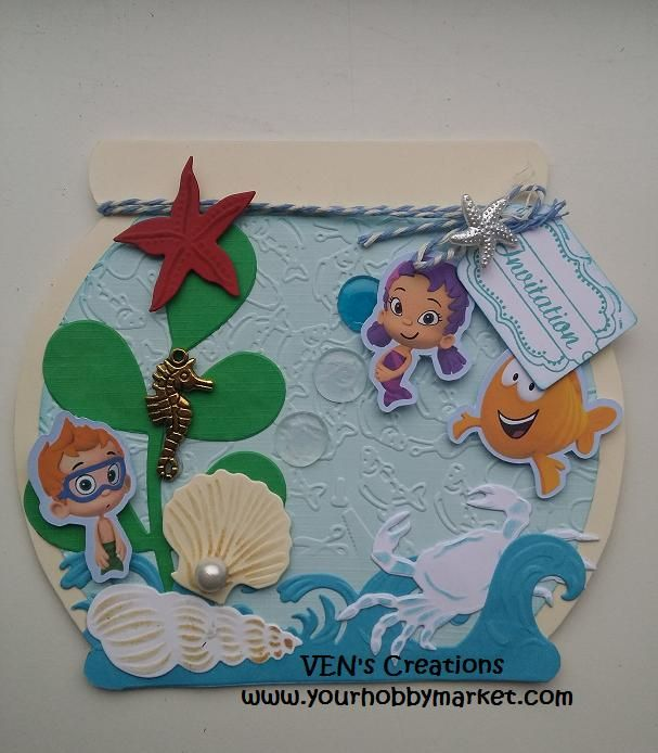 Bubble Guppies Inspired Invitations...