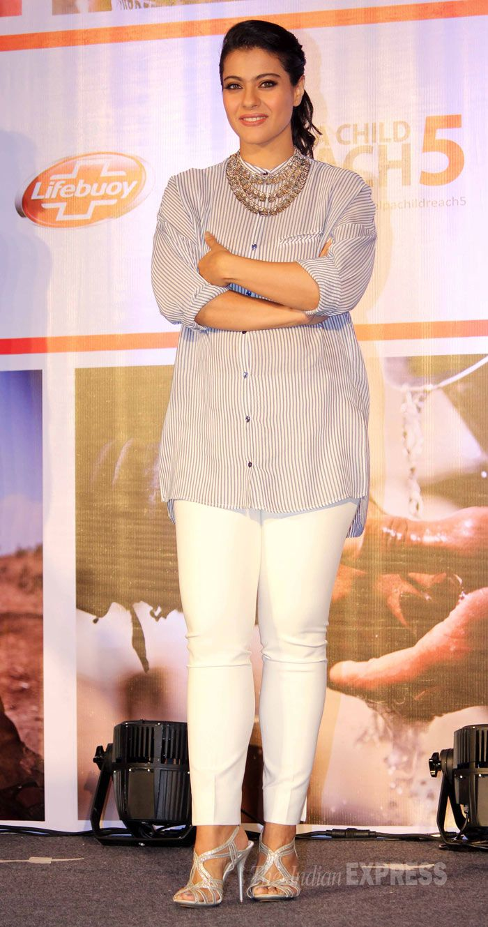 Kajol is supporting a campaign aiming to eradicate diarrhoea by promoting hand-washing habits among children. #Style #Bollywood #Fashion #Beauty