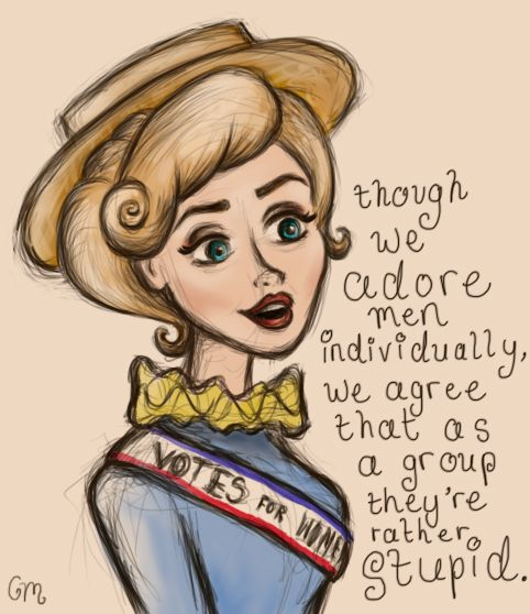 thatdisneyprincess:  Things I do at 1am: draw things based on Tumblr gifsets
