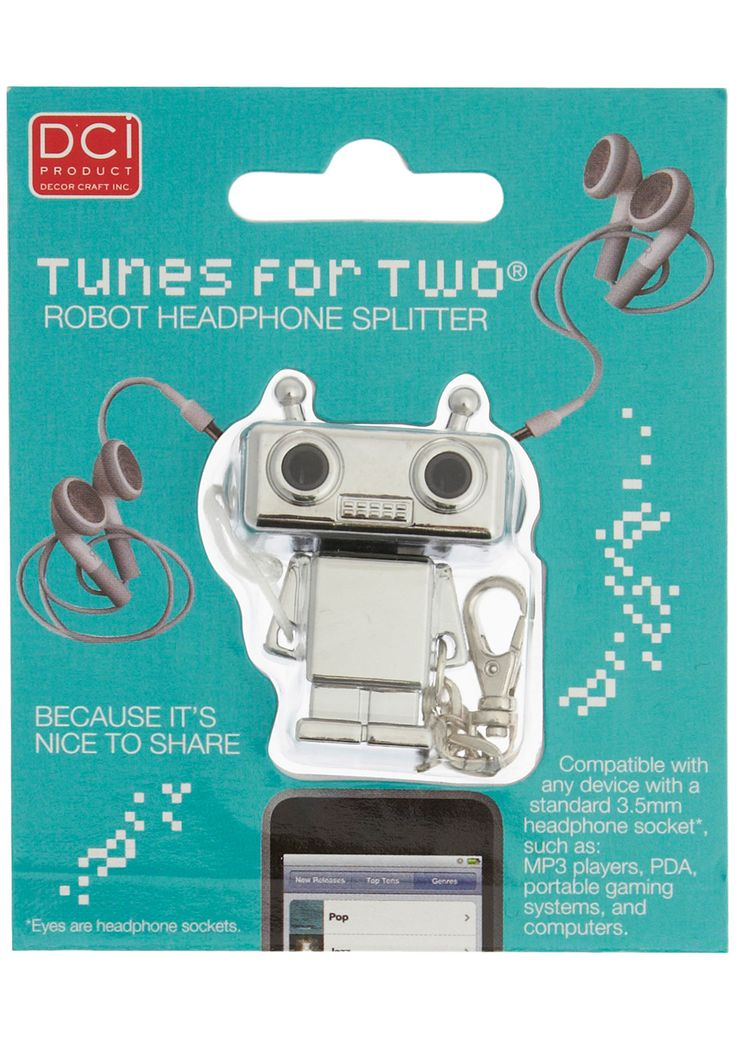 """Ro-Both"" Listening Headphone splitter. Great gift for any tween or teen."