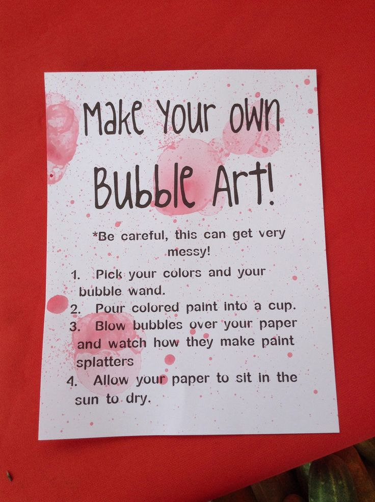 Bubble art- something for the older kids at mr.m's birthday