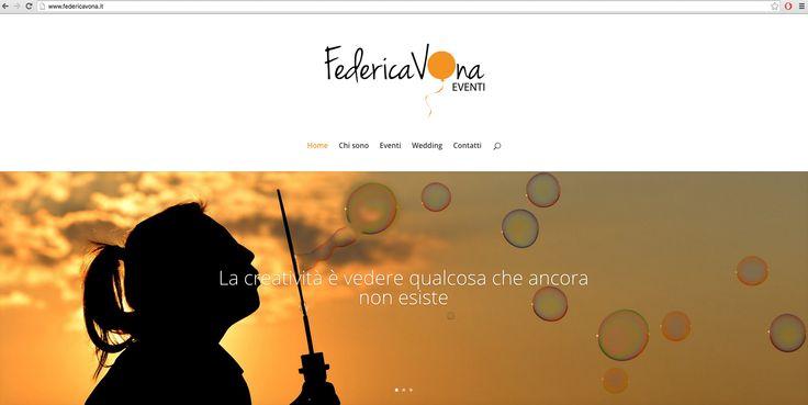http://www.federicavona.it Federica Vona | Eventi Crafted by Marta Laudiano #party #eventi #website #design #orange #events #event #web #site #digital #UI #UX