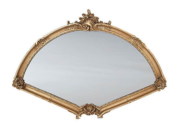 """Wherever My Feet And """"New Shoes"""" Take Me... My Expressions Change...What A Beautiful """"Window"""" Through Which My Joy Is Allowed To Shine ...                                          Large Fan Mirror, in Gold .... OneKingsLane.com"""