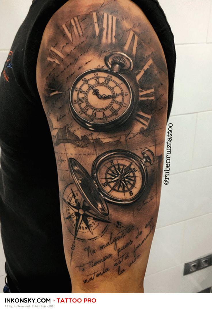 tattoo by rub n ruiz tattoo pinterest tatuajes tatuajes de br julas y ideas de tatuajes. Black Bedroom Furniture Sets. Home Design Ideas