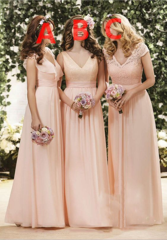 Bridesmaid Dresses Mismatched,Dusty Pink Bridesmaid Dresses,Mismatched Bridesmaid Dresses,Long Bridesmaid Dresses,FS084