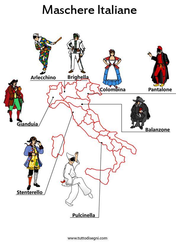 Carnevale - Le maschere italiane - TuttoDisegni.com