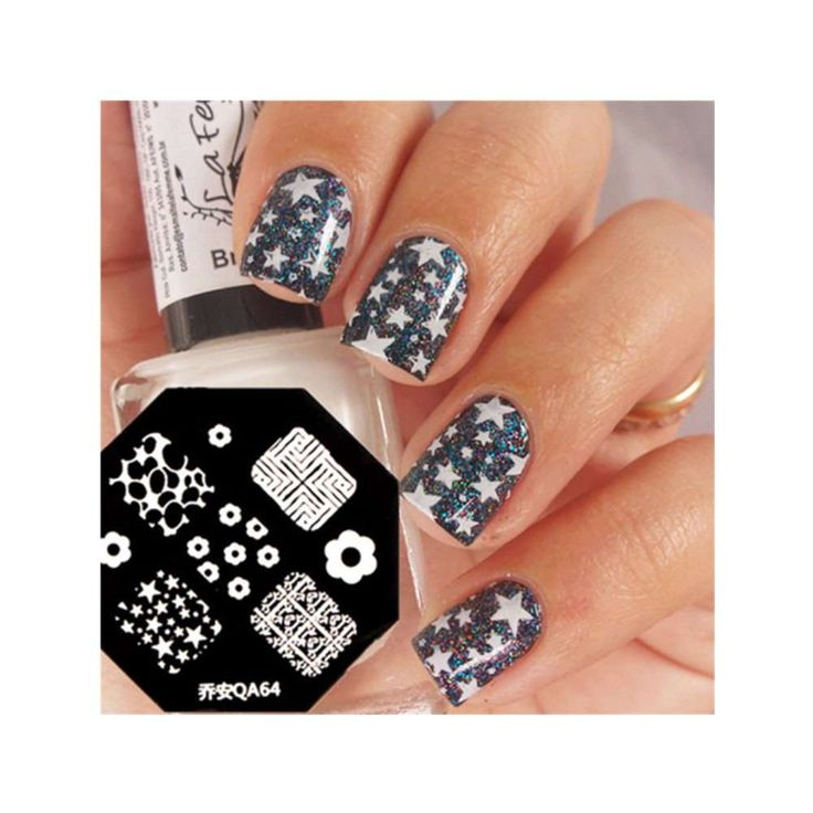 Elegant Flower Nail Art Stamp Template