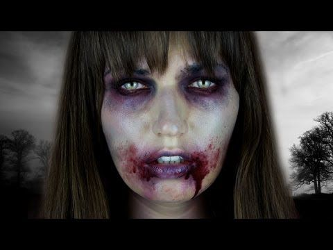 ▶ The Walking Dead ZOMBIE Halloween Tutorial - YouTube - an inexpensive Halloween look
