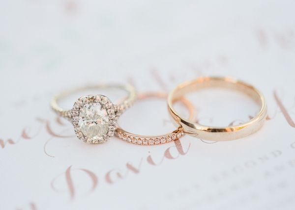 White and Gold Wedding Rings