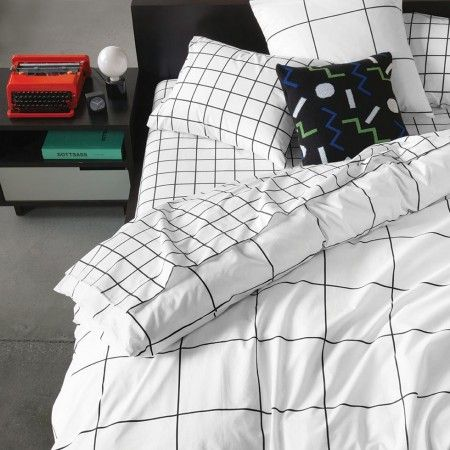 70's alive and well at Unison. Grid Duvet Cover | Unison