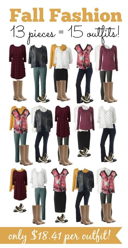 Learn how to create 15 outfits for fall that are just $18 per outfit!